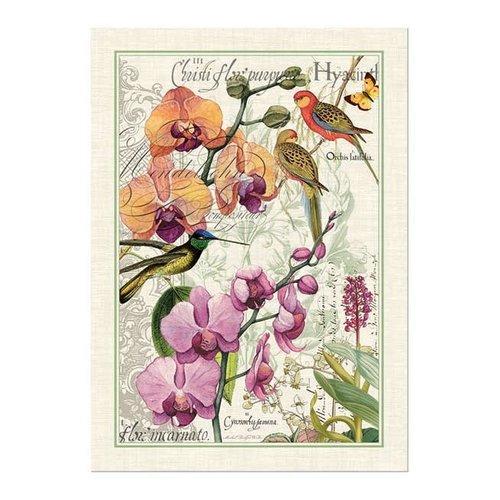 Michel Design Works Orchids in Bloom Kitchen Towel