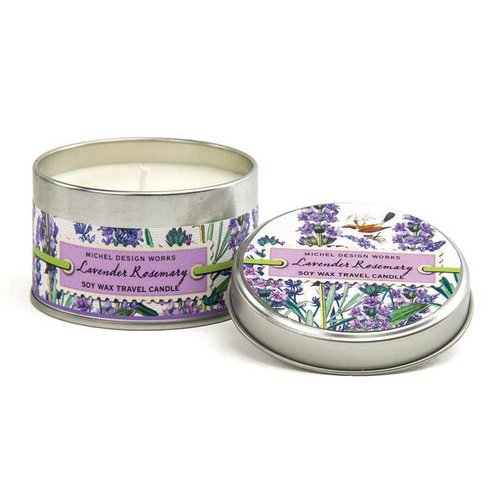 Michel Design Works Lavanda Rosemary Travel Candle Tin 20 + horas