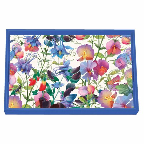 Michel Design Works Sweet Pea  Vanity Decoupage Wooden Tray