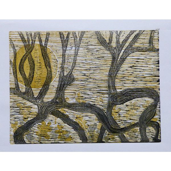 Duelling Hawthorn - Woodcut
