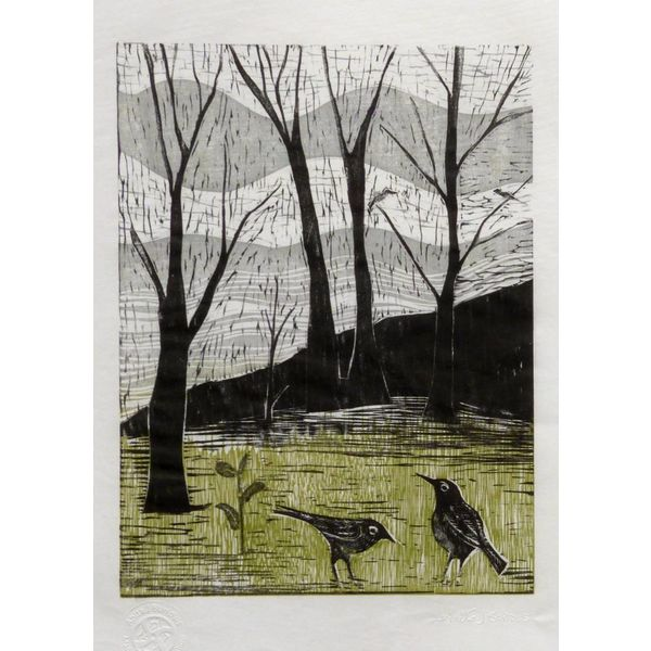 Spring is on it's Way- Woodcut