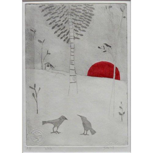 Anita J Burrows Winter - Etching