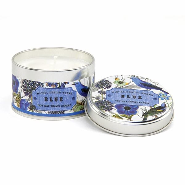 Blue Travel Candle
