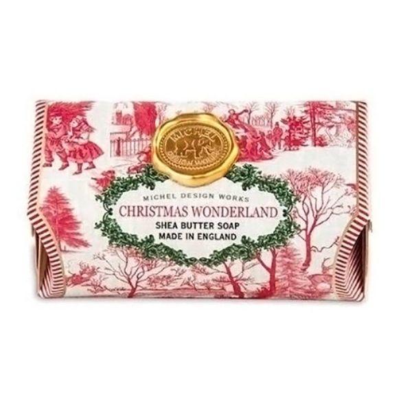 Barra de jabón de karité de gran baño de Christmas Wonderland
