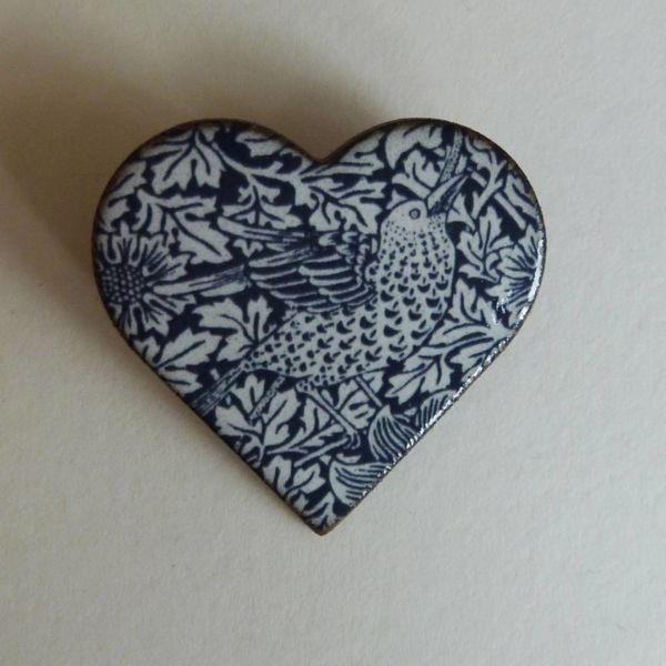 Copy of Heart Bird Heritage Brooch