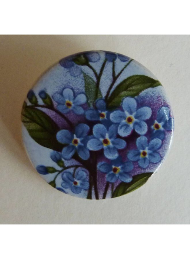Copy of Heart blue bird brooch
