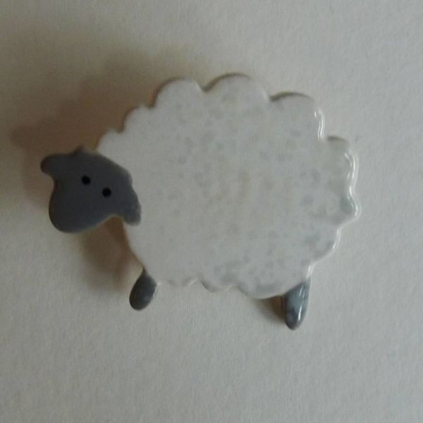 Copy of Grey faced curly sheep brooch