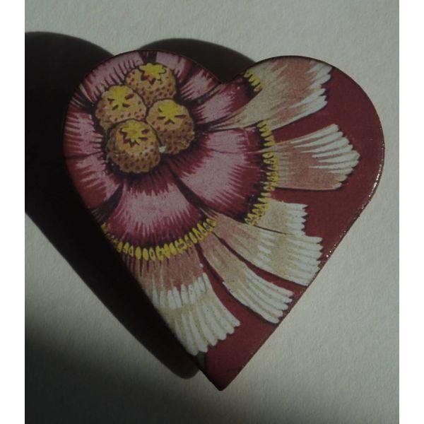 Heart Flower brooch