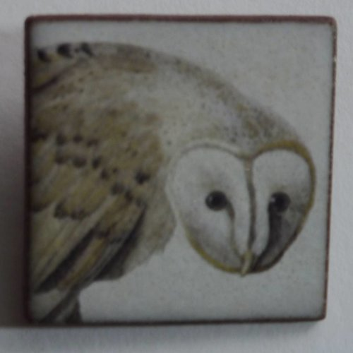 Stockwell Ceramics Heritage Barn Owl Head brooch