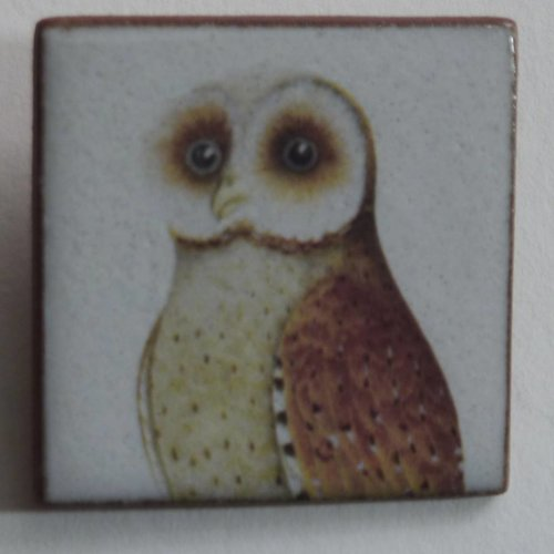 Stockwell Ceramics Heritage Brown Owl brooch
