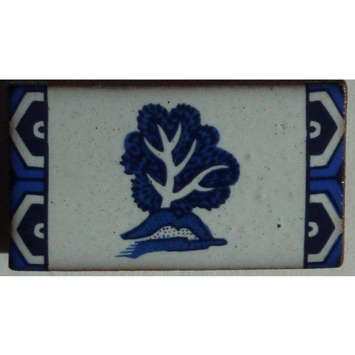 Stockwell Ceramics Willow pattern tree brooch