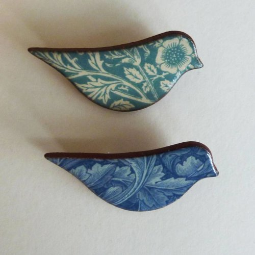 Stockwell Ceramics Blue  Bird brooch