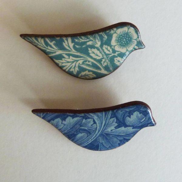 Blue  Bird brooch