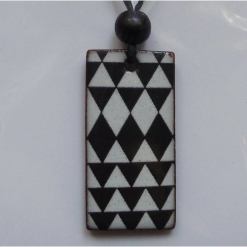 Stockwell Ceramics Black and White Pendant