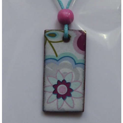 Stockwell Ceramics Blue and pink  Pendant