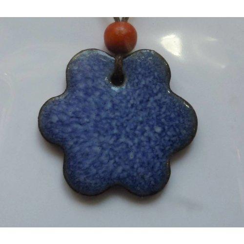 Stockwell Ceramics Blue Wavy  Pendant