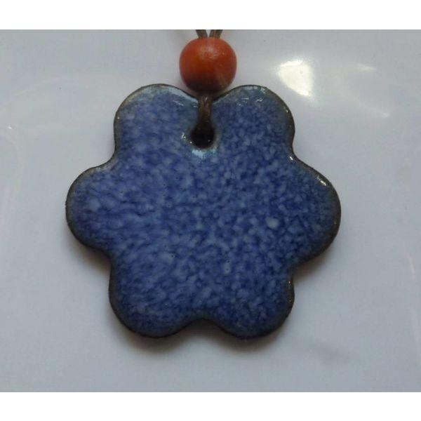 Blue Wavy  Pendant