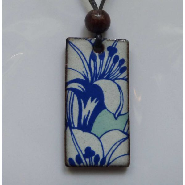 Blue and white lily  Pendant