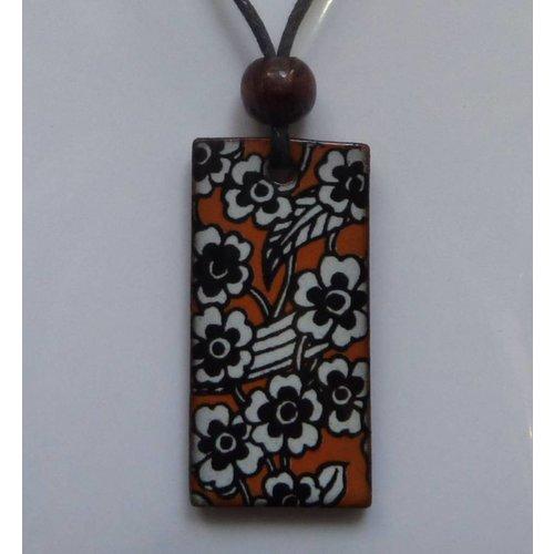 Stockwell Ceramics Copy of Orange Daisy pendant