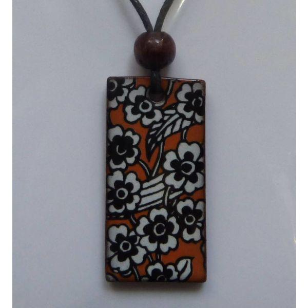 Copy of Orange Daisy pendant