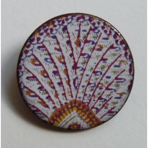 Stockwell Ceramics Fan Warner  brooch
