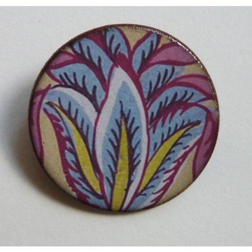 Stockwell Ceramics Blue leaves Warner  brooch