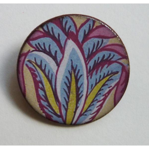 Blue leaves Warner  brooch