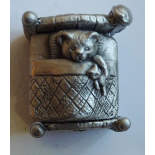 A E Williams Teddy in Bed Trinket Box