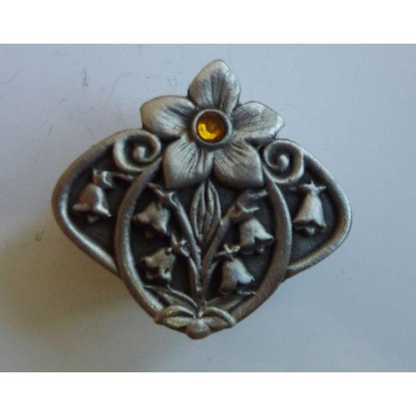 Stone Set Flower  Trinket Box