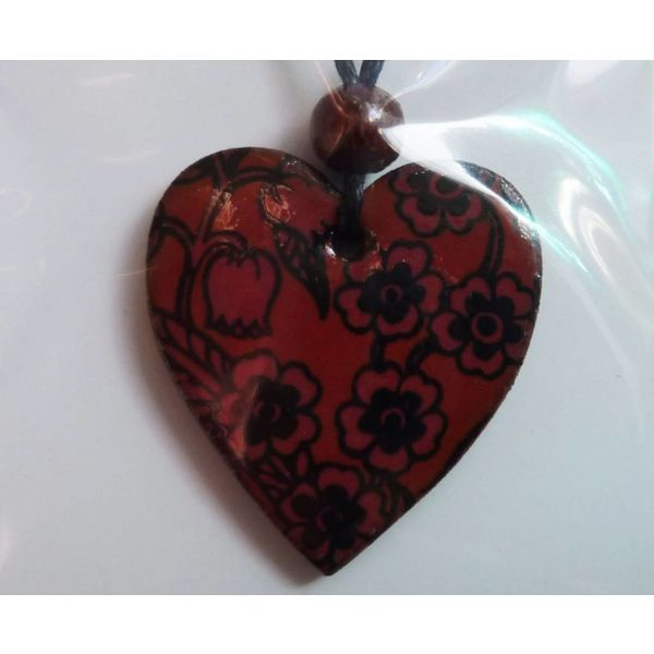 Copy of Heart dark blue and white pendant