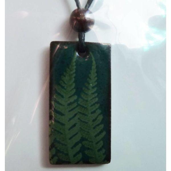 Fern leaf green pendant