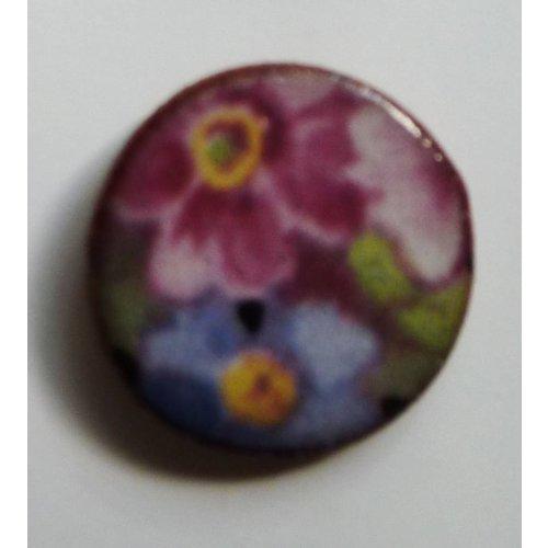 Stockwell Ceramics Copy of Blue white leaf stud earrings
