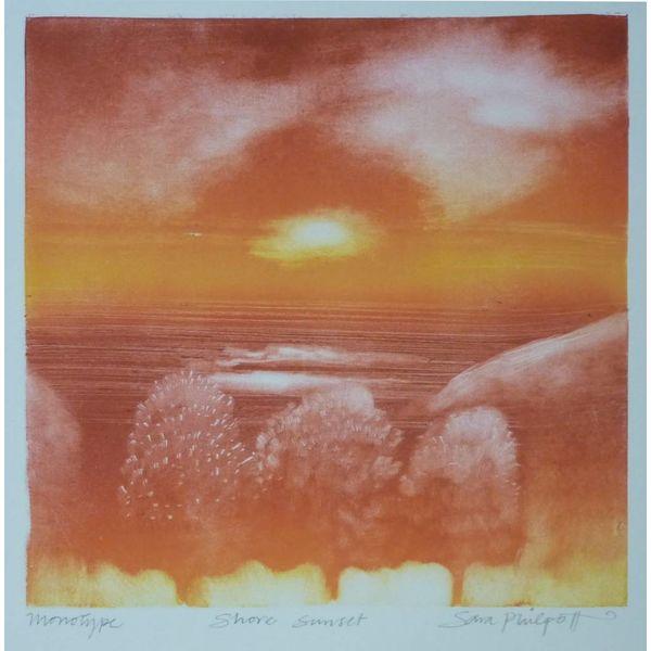 Shore Sunset 22 x 22 cm