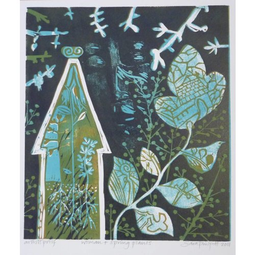 Sara Philpott Woman and Spring Plants  AP