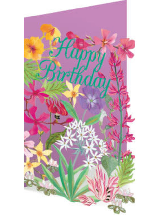 Copy of 50 Birthday Birds and Flowers Laser Card