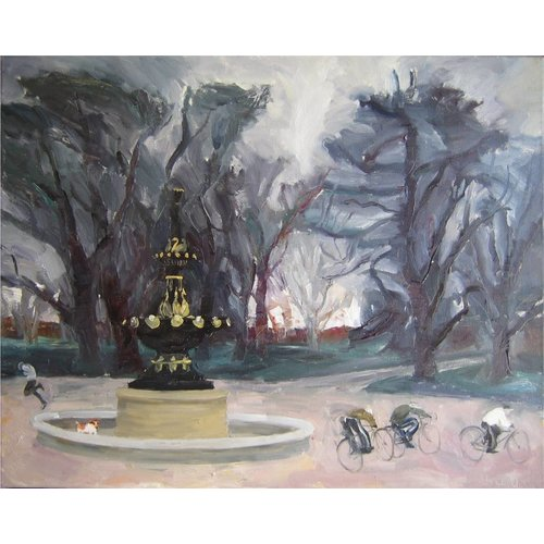 Margaret Shields Fountain in Winter
