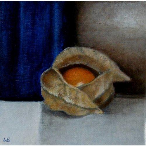 Linda Brill Azul y naranja