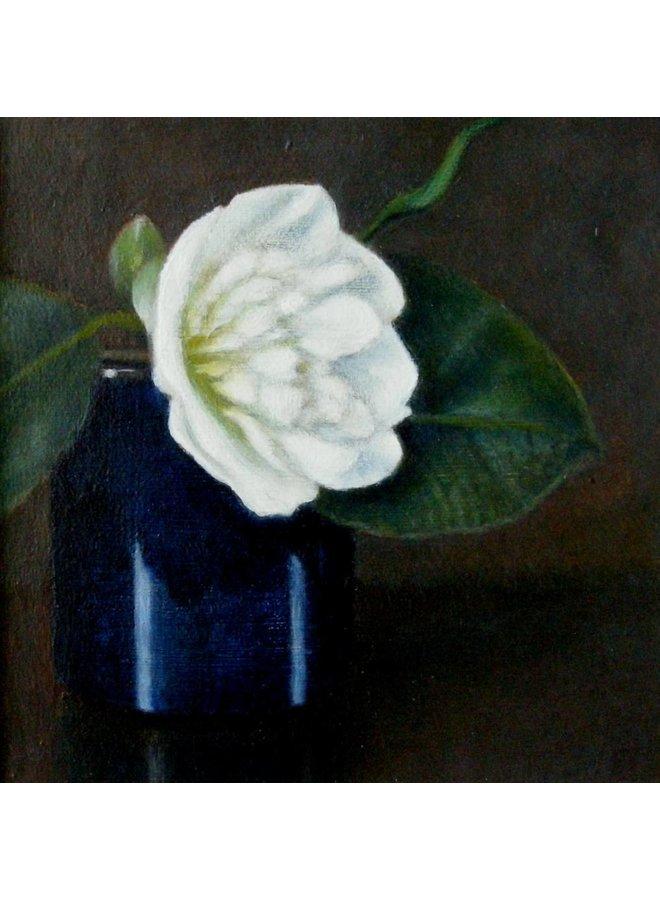 Camellia and Blue Pot 08
