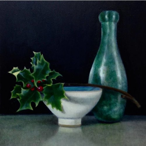 Linda Brill Bottle and Holly 10