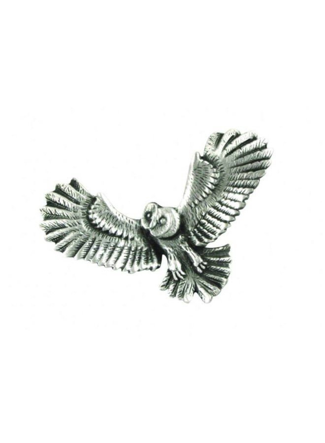 Owl in flight stick pin