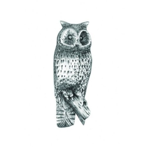 A E Williams Owl Standing lapel pin