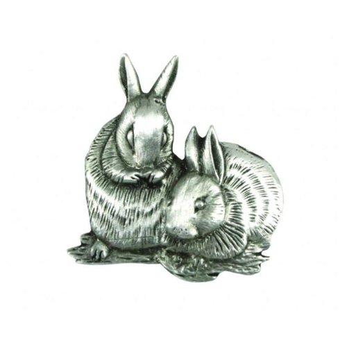 A E Williams Rabbits lapel pin