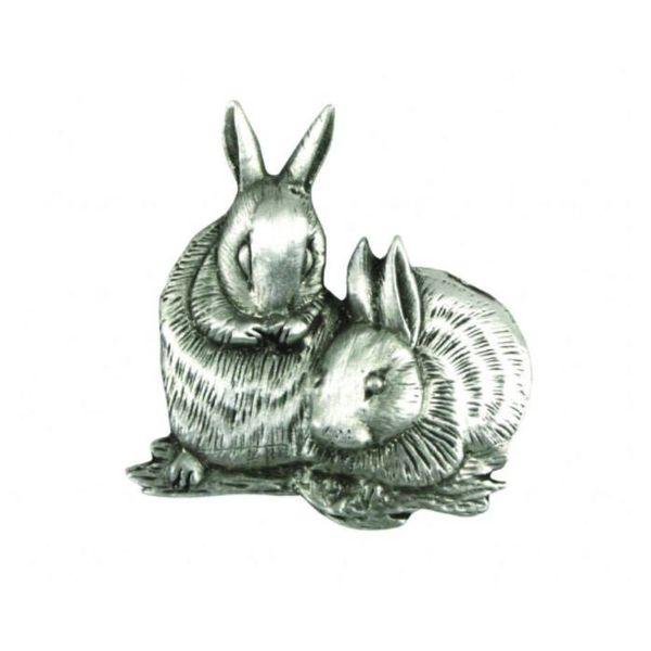 Rabbits lapel pin