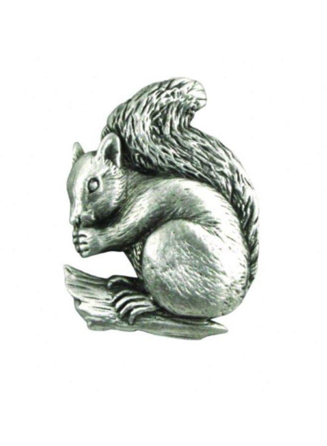 Squirrel Sitting lapel pin