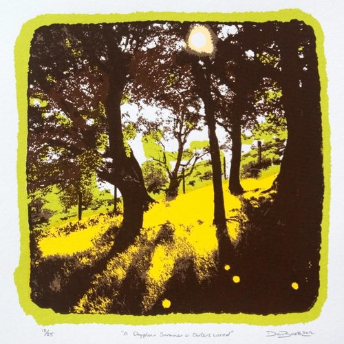 West Yorkshire Print Workshop Un verano Dayglow en Owlers Wood Ed. 25