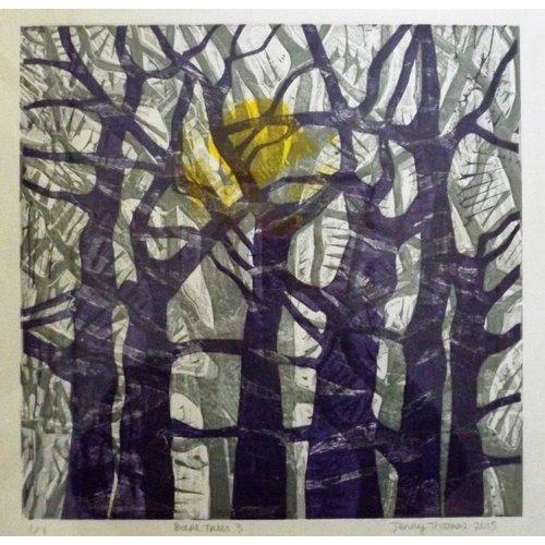 West Yorkshire Print Workshop Árboles desnudos n. ° 3