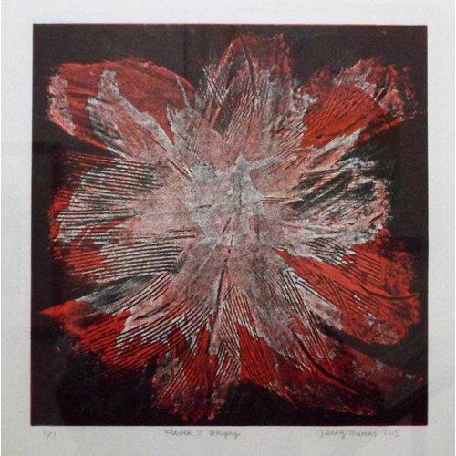 West Yorkshire Print Workshop Flower 7 - Stripey