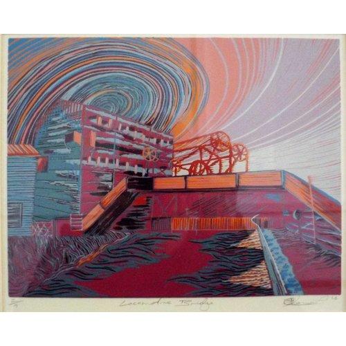 West Yorkshire Print Workshop Puente de locomotora