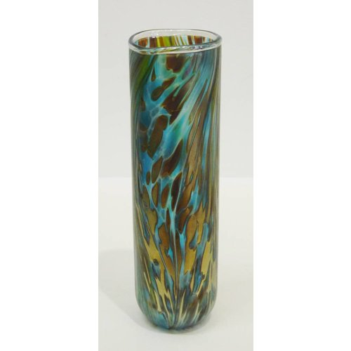 Isle of Wight Glass Featherspray Cylinder tall vase