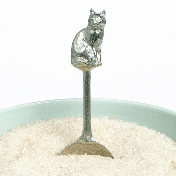 Katze kleiner Zucker Löffel